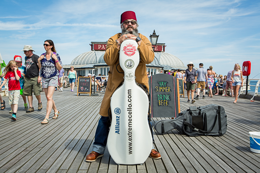 CAPTAIN FAWCETT  AND THE EXTREME CELLISTS_CROMER PIER
